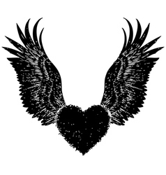 Heart angle wing vector