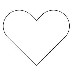 Heart the black color icon vector