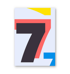 Number 7 poster vector