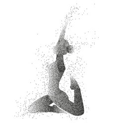 particle of the female yoga vector image