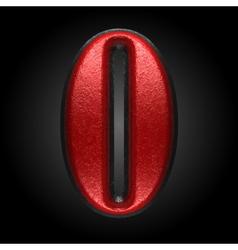 Red plastic figure o vector