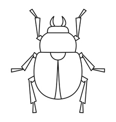 Scarab beetle icon outline style vector image vector image