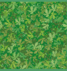 seamless background oak leaves vector image vector image
