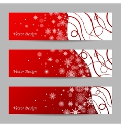 Set of 3 winter banners vector