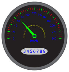 Speedometer dashboard device vector image