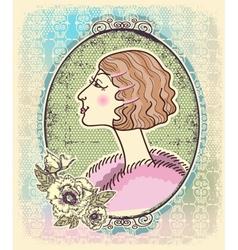 Vintage victorian portrait frames vector image vector image
