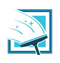 washing windows symbol vector image