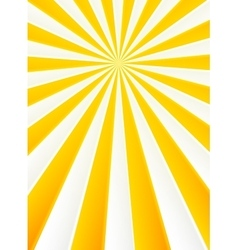 Yellow and white rays abstract circus poster vector