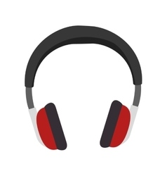 Audio portable headphone vector