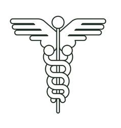 Isolated caduceus of medical care design vector