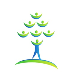 Tree people logo vector