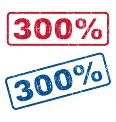 300 percent rubber stamps vector