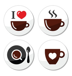 I love cofee labels vector image