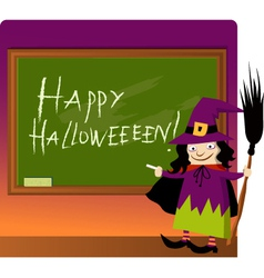 Halloween at school vector image