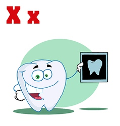 X ray cartoon with letter vector