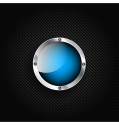 background with carbon and speech bubble vector image