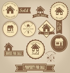 Property For Sale Design Set vector image