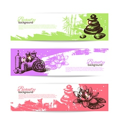 Set of spa banners vector
