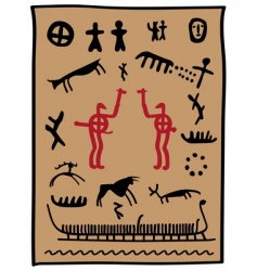 Viking petroglyphs vector