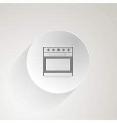 Flat icon for oven vector
