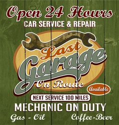last garage vector image