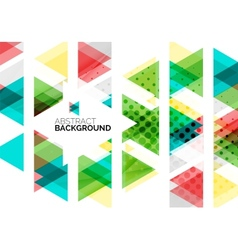 Triangles geometric clean abstract background vector image
