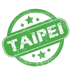Taipei green stamp vector