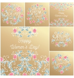 Hand drawing floral card vector