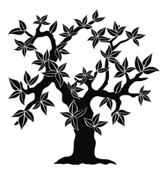 Silhouette of spring tree vector