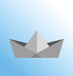 Paper ship of origami drawing vector