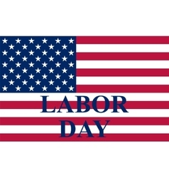 Labor day in the us vector