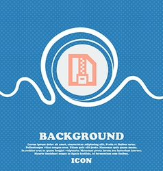 Archive file download compressed zip zipped sign vector