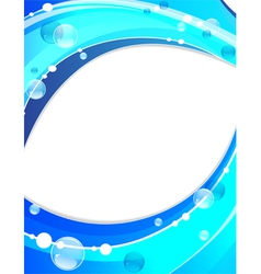 Abstract water waves vector