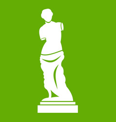ancient statue icon green vector image vector image