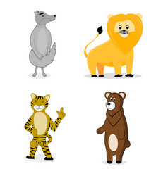 Animal cartoon set vector