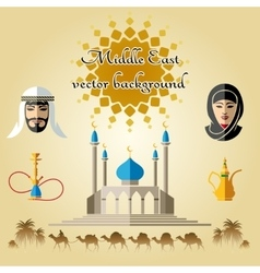 Arab background vector