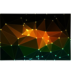 brown orange green geometric background with mesh vector image vector image