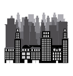 Buildings and cityscape scene icon vector