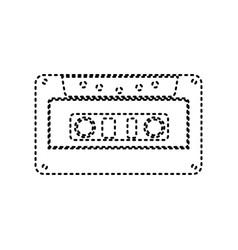 cassette icon audio tape sign black vector image