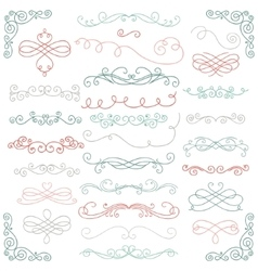 Colorful Doodle Hand Drawn Swirls vector image vector image