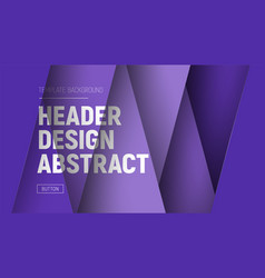 design site header with purple layers and text at vector image vector image