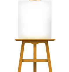Easel with a blank canvas vector image vector image
