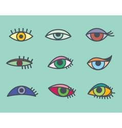 Eyes icons vector