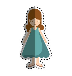 happy beautiful girl with dress vector image