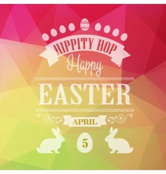 Happy Easter Typographical Poster vector image