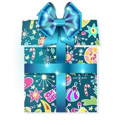 Holiday gift box vector image
