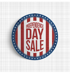 independence day sale circle realistic banner vector image vector image