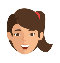 isolated cute women face vector image vector image