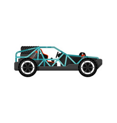 Off road dune buggy isolated icon vector