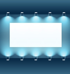 Presentation board with spot lights vector